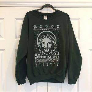 Ugly Christmas Sweatshirt - Bday Boy Jesus!